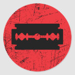 Rarxh - éstos sangran la marca etiqueta redonda
