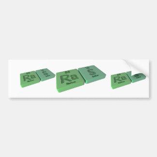 Ras as Ra Radium and S Sulfur Bumper Sticker