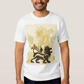 Ras Lion Tan Tee Shirt