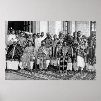 Ras Tafari con los derechos etíopes Póster