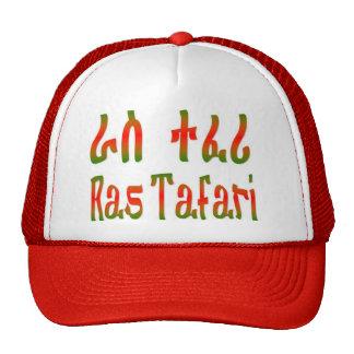 Ras Tafari - gorra del Amharic - rojo