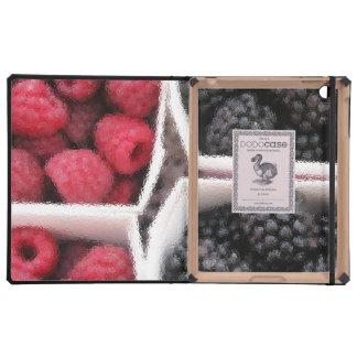 Rasberries and Blackberries iPad Folio Cases