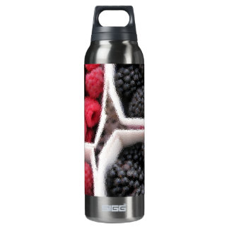 Rasberries and Blackberries 16 Oz Insulated SIGG Thermos Water Bottle