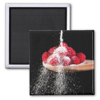 Rasberries and Sugar Refrigerator Magnet