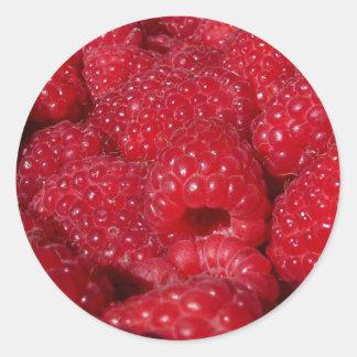 Rasberries Classic Round Sticker