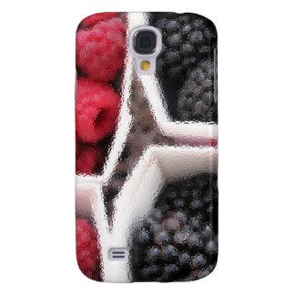 Rasberries y zarzamoras funda para galaxy s4