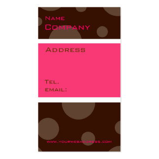 rasberry chocolate bubble, vertical profile cards Double-Sided standard business cards (Pack of 100)