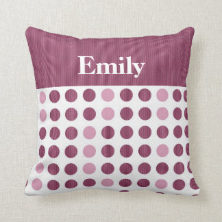 Rasberry Dots - Name Pillows
