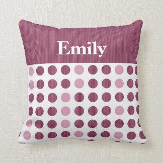Rasberry Dots - Name Pillows