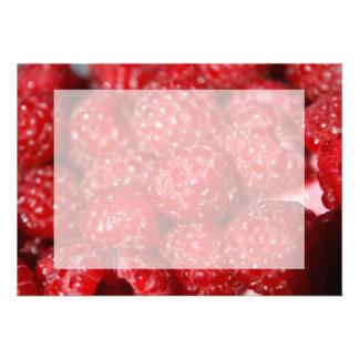 rasberry fruit closeup food design picture invitation