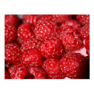 rasberry fruit closeup food design picture postcard