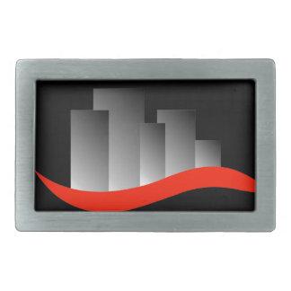 Rascacielos abstractos hebilla de cinturon rectangular