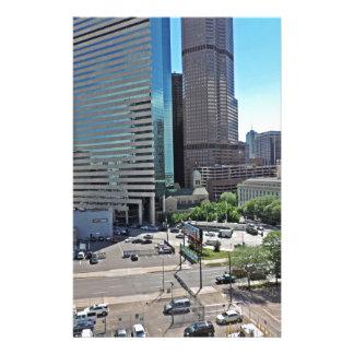 Rascacielos céntricos de Denver Colorado Papelería Personalizada