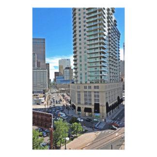 Rascacielos céntricos de Denver Colorado Papeleria De Diseño
