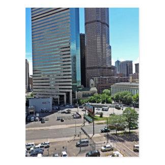 Rascacielos céntricos de Denver Colorado Postales