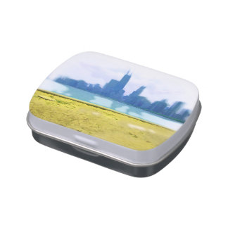 Rascacielos cepillados aire de Chicago Frascos De Dulces