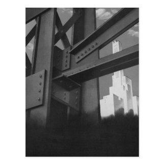 Rascacielos de acero de la construcción de la arqu tarjeta postal