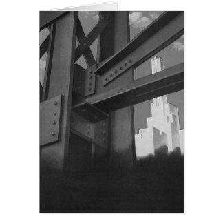 Rascacielos de acero de la construcción de la tarjeta de felicitación