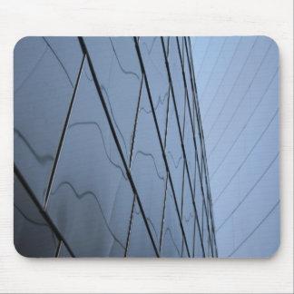 Rascacielos de cristal alfombrillas de ratones