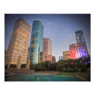 Rascacielos de Houston Impresión Fotográfica