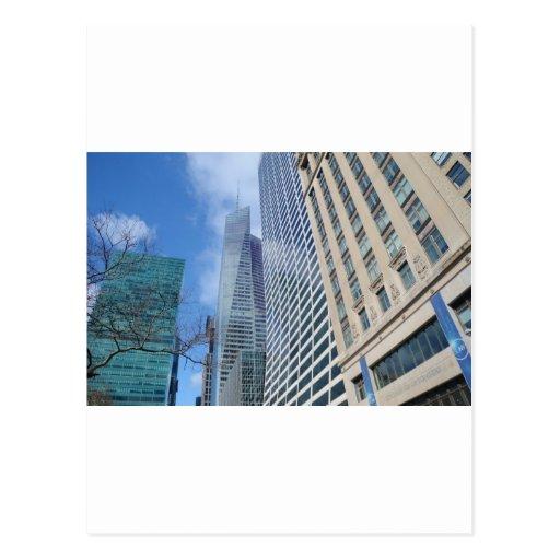 Rascacielos de Manhattan Postal