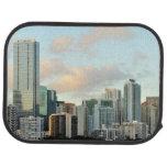 Rascacielos de Miami contra el cielo claro ancho Alfombrilla De Auto