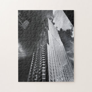 Rascacielos de New York City en blanco y negro Puzzles