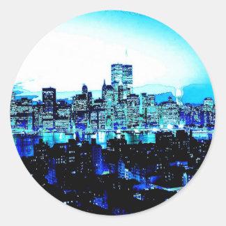 Rascacielos de New York City en la noche Pegatinas