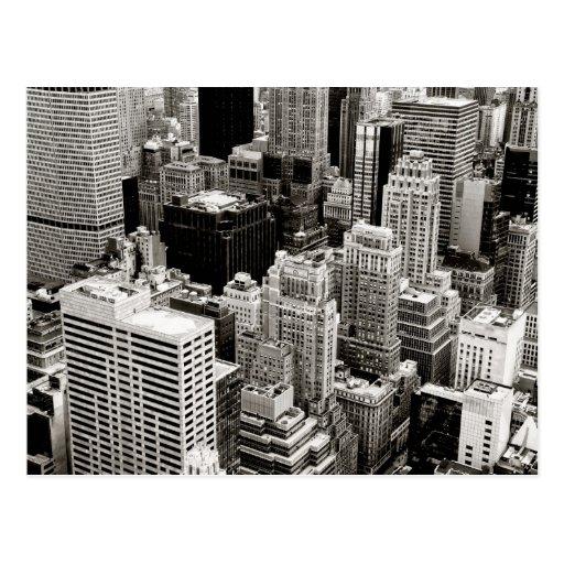 Rascacielos de Nueva York desde arriba Postal