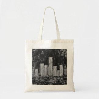 Rascacielos de Nueva York en bolso del aceite Bolsa Tela Barata