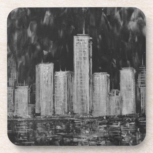 Rascacielos de Nueva York en el sistema del prácti Posavasos De Bebidas
