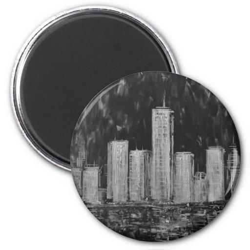 Rascacielos de Nueva York en imán del aceite