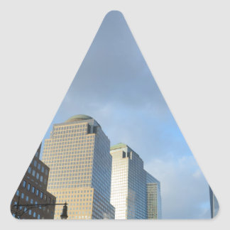 Rascacielos de Nueva York Pegatina Triangular