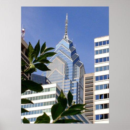 Rascacielos de Philadelphia - Pennsylvania Póster