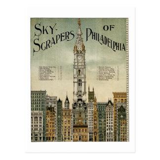 Rascacielos de Philadelphia (poster 1898 del Postales