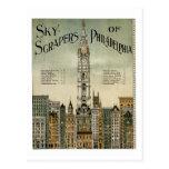 Rascacielos de Philadelphia (poster 1898 del Tarjetas Postales