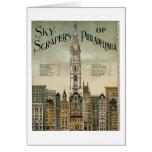 Rascacielos de Philadelphia (poster 1898 del vinta Tarjetón