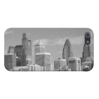 Rascacielos de Philly blancos y negros iPhone 5 Fundas