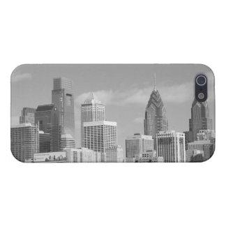 Rascacielos de Philly blancos y negros iPhone 5 Carcasas