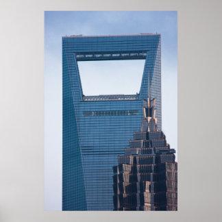 Rascacielos en Shangai China Impresiones