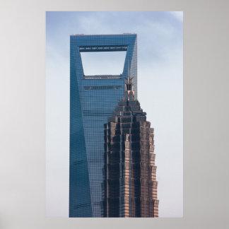 Rascacielos en Shangai China Posters