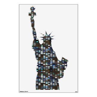 Rascacielos - estatua de la etiqueta de la pared d