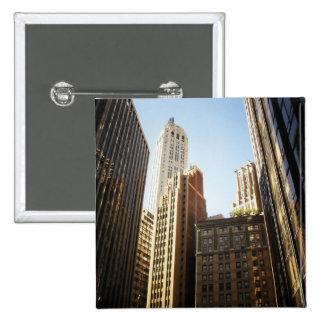 Rascacielos financieros del distrito, New York Cit Pin