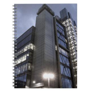 Rascacielos moderno de Londres Libro De Apuntes Con Espiral