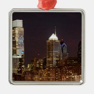Rascacielos modernos de Philadelphia céntricos Ornamento De Navidad