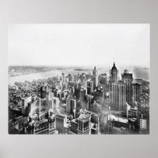 Rascacielos Photo (1913) del Lower Manhattan del Póster