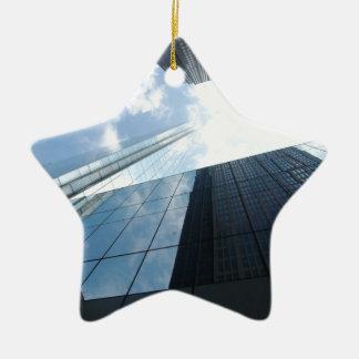 Rascacielos reflectores adorno de cerámica en forma de estrella