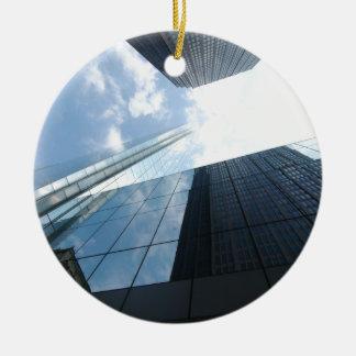 Rascacielos reflectores adorno redondo de cerámica