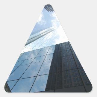 Rascacielos reflectores pegatina triangular