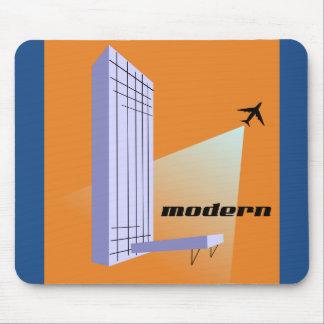 Rascacielos y aeroplano retros alfombrilla de ratones